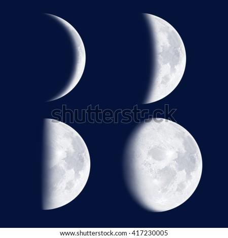 Moon phases - stock photo