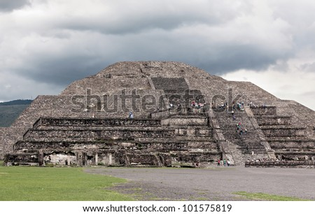 Moon Pyramids in Teotihuacan - Mexico - stock photo