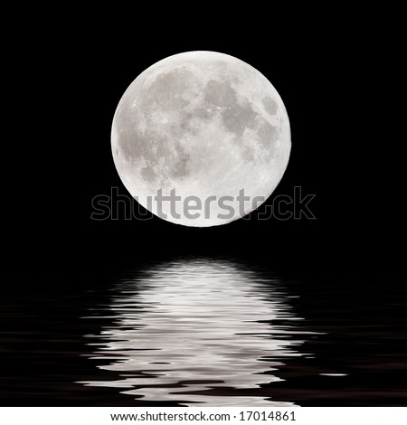 Royalty Free Full Moon Pictures, Images and Stock Photos ...   Full Moon Reflecting Off Water