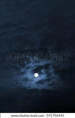 Moon sky - stock photo