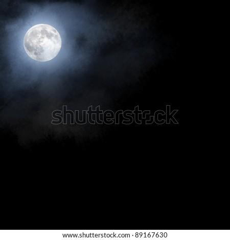 Moon sky background - stock photo