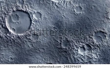 Moon surface - stock photo