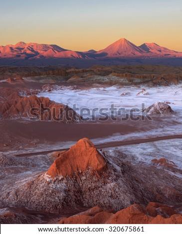 Moon Valley, Atacama Desert, Chile - stock photo