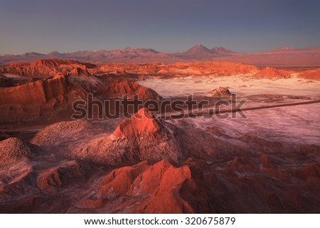 Moon Valley, Atacama Desert, Chile - stock photo