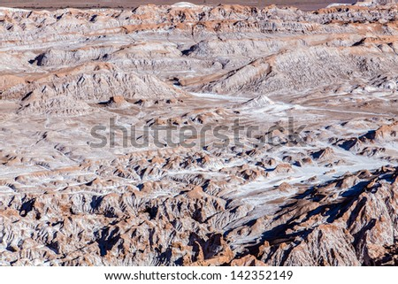 Moon Valley in Chile - stock photo