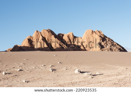 Moon Valley - Valle de la Luna - Atacama Desert, Chile - stock photo