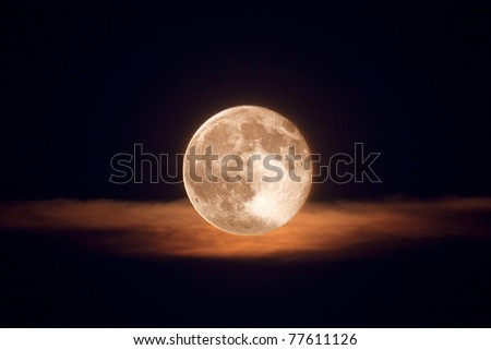 moon with clouds - stock photo