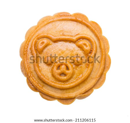Mooncake and tea,Chinese mid autumn festival food - stock photo