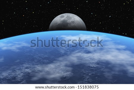 Moonrise - stock photo