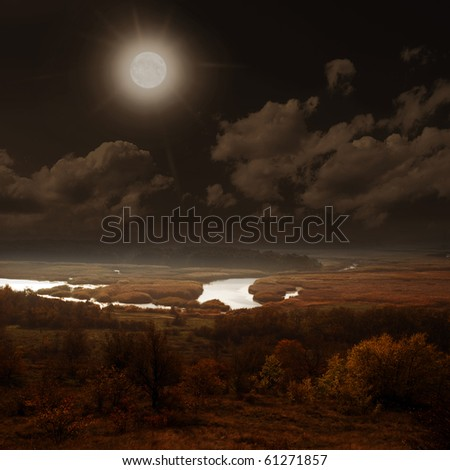 moonscape - stock photo