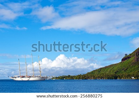 Moorea island, French Polynesia - stock photo
