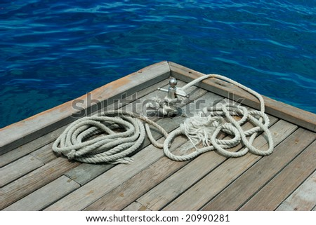 Mooring line - stock photo