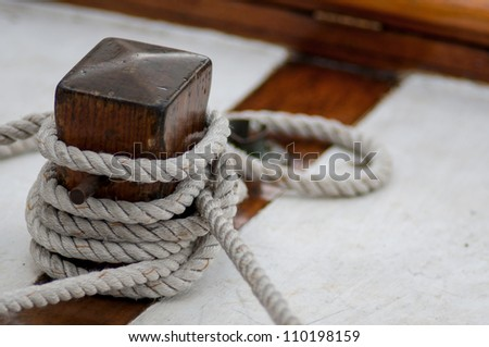 Mooring rope - stock photo