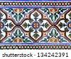 Moorish ceramic tiles (14th century) - stock photo