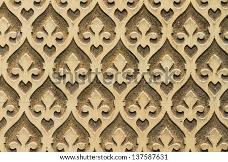 Moorish floral wall decoration, Spain - stock photo