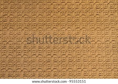 Moorish floral wall decoration, Spain - stock photo