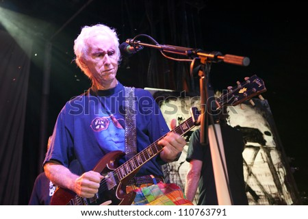 MOORPARK - AUG 20: Robby Krieger performs at  Medlock Krieger Celebrity Golf Invitational & All Star Concert at Moorpark Country Club, August 20, 2012 in Moorpark, CA