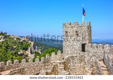 Moors Castle, Sintra, Portugal - stock photo