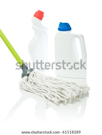 mop and white cleaners