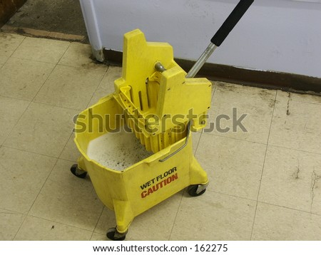 Mop Bucket - stock photo