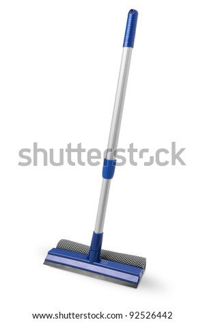 Mop for cleaning windows - stock photo