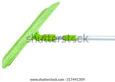 Mop for washing floors without attachments isolated - stock photo
