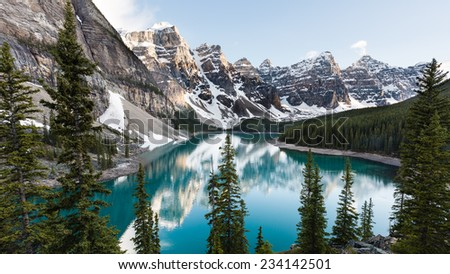 Moraine Lake - stock photo