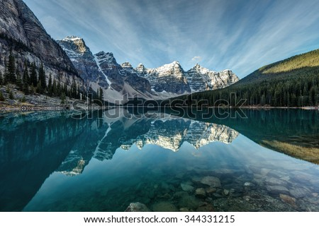 Moraine Lake, Banff, Alberta - stock photo