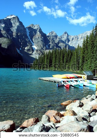 Moraine Lake, Canada - stock photo