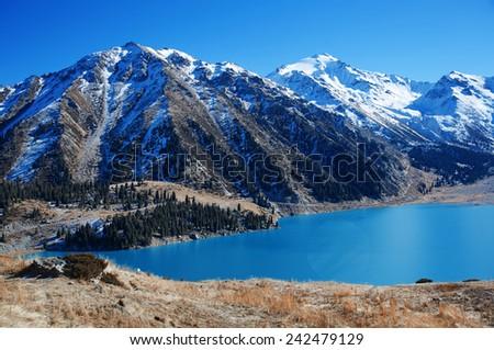 Moraine Lake in Banff National Park, Canada - stock photo