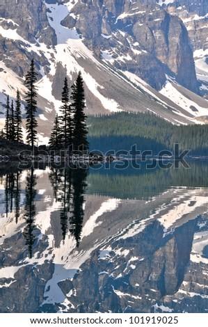 Moraine Lake, Rocky Mountains, Canada - stock photo