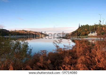 Morar in November. - stock photo