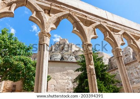 Morella Castle in Spain - stock photo