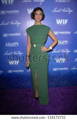 Morena Baccarin at the Variety and Women In Film Pre-Emmy Event, Scarpetta, Beverly Hills, CA 09-21-12 - stock photo