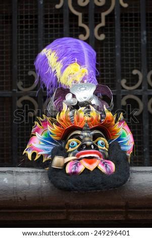 Morenada mask. - stock photo