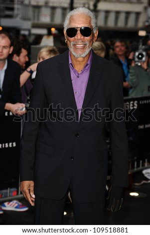 "Morgan Freeman arriving for European premiere of ""The Dark Knight Rises"" at the Odeon Leicester Square, London. 18/07/2012 Picture by: Steve Vas / Featureflash"