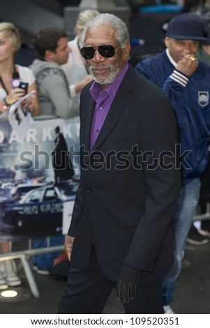 """Morgan Freeman arriving for European premiere of """"The Dark Knight Rises"""" at the Odeon Leicester Square, London. 18/07/2012 Picture by: Simon Burchell / Featureflash - stock photo"""