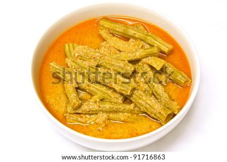 Moringa curry with coconut milk, Thaifood - stock photo