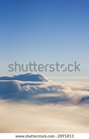 Morning Aerial Clouds - stock photo