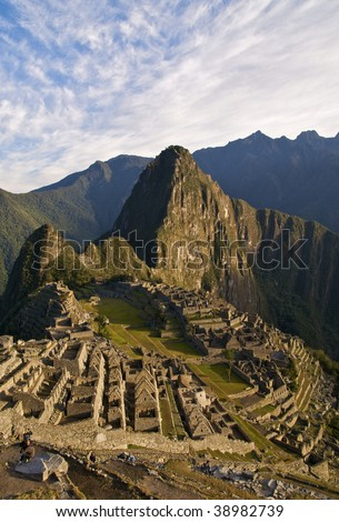 Morning at Machu Picchu - stock photo