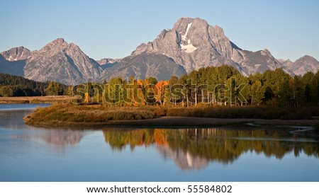 Morning at Oxbow Bend in Grand Teton National Park