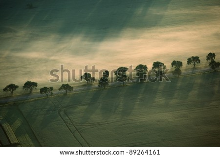 Morning balloon flight - stock photo