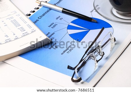 Morning breakfast of businessman - stock photo