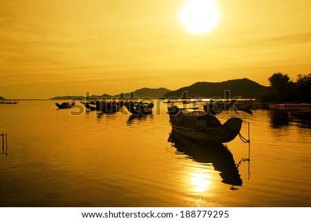 Morning Cau Hai lagoon (Thua Thien Hue, Vietnam)