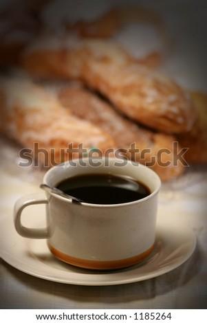 morning coffee - stock photo