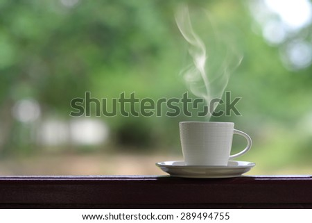 Morning coffee cup - stock photo