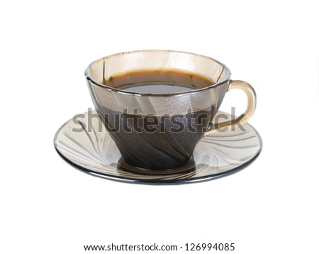 morning Coffee, Isolated on white background. - stock photo