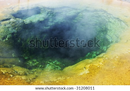 Morning Glory pool - stock photo
