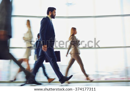 Morning haste - stock photo