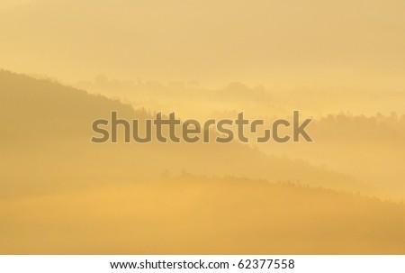 Morning haze - stock photo